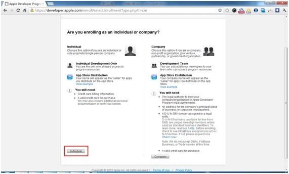 ios7开发者账号注册申请方法