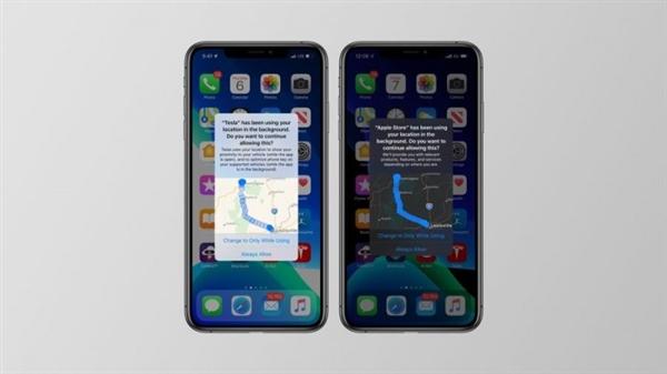 iOS 13新措施:可显示带地图的后台定位追踪应用通知
