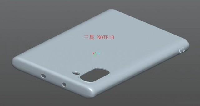 Galaxy Note 10保护套渲染图确认了垂直相机排列且没有耳机插孔