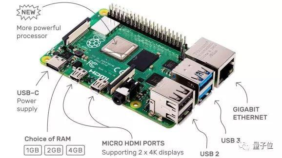树莓派4发布!CPU提升3倍,性能堪比主流PC,顶配售价55美元