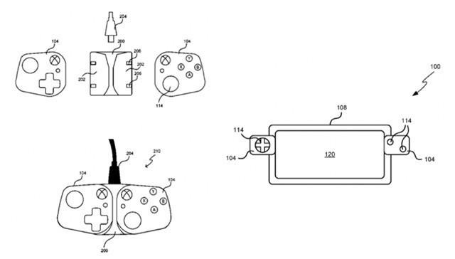 微软分体式手柄控制器专利曝光