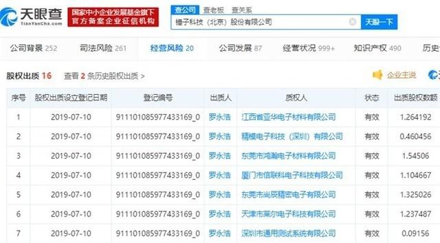 罗永浩再次出质锤子科技股权给7家电子科技企业