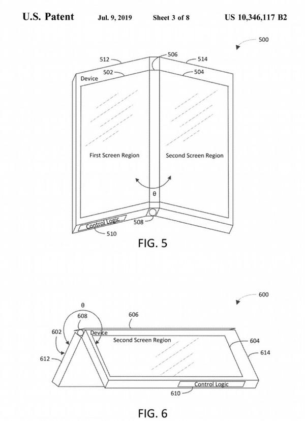 新系统兼容安卓!微软专利曝光:双屏设备是这样