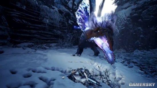 《怪物猎人:世界》冰原DLC雷颚龙演示 电闪雷鸣威力十足