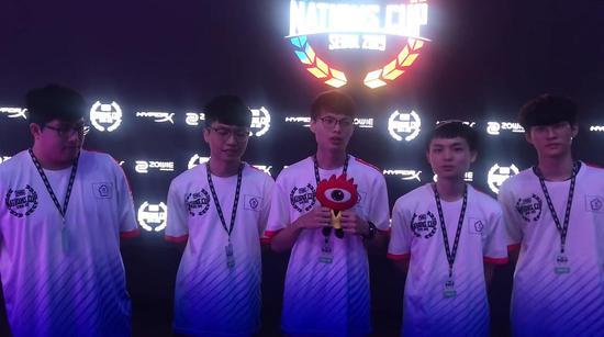 PUBG全明星赛第二日赛后台湾赛区战队采访