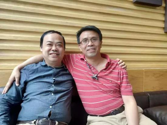 热酷创始人 刘勇(右)&左林大叔