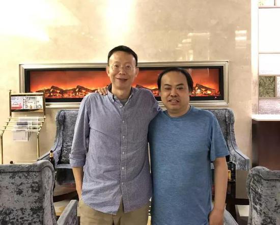 恺英创始人 赵勇(左)& 左林大叔