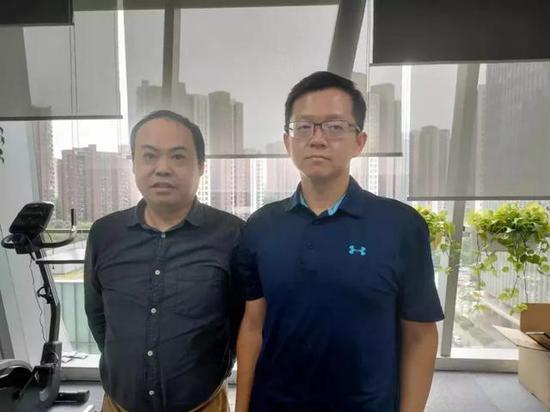 胡莱创始人 黄建(右)&左林大叔