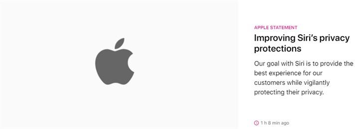 苹果正式就隐私问题致歉:将不再保留Siri互动录音