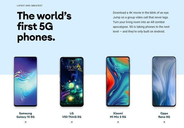 Android官方认证首发5G手机  小米OPPO皆入榜