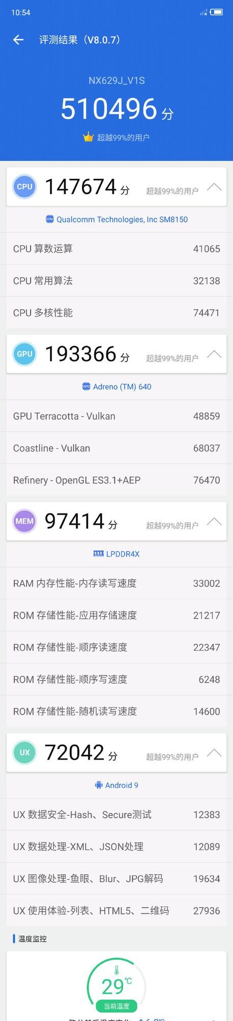 红魔3S安兔兔跑分曝光 90Hz屏幕跑分超51万