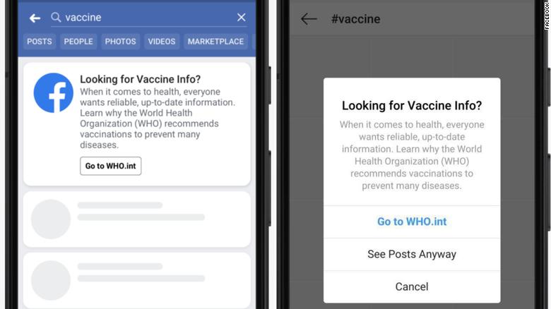 关于疫苗的谣言太多,FB特意做了一个科普弹窗