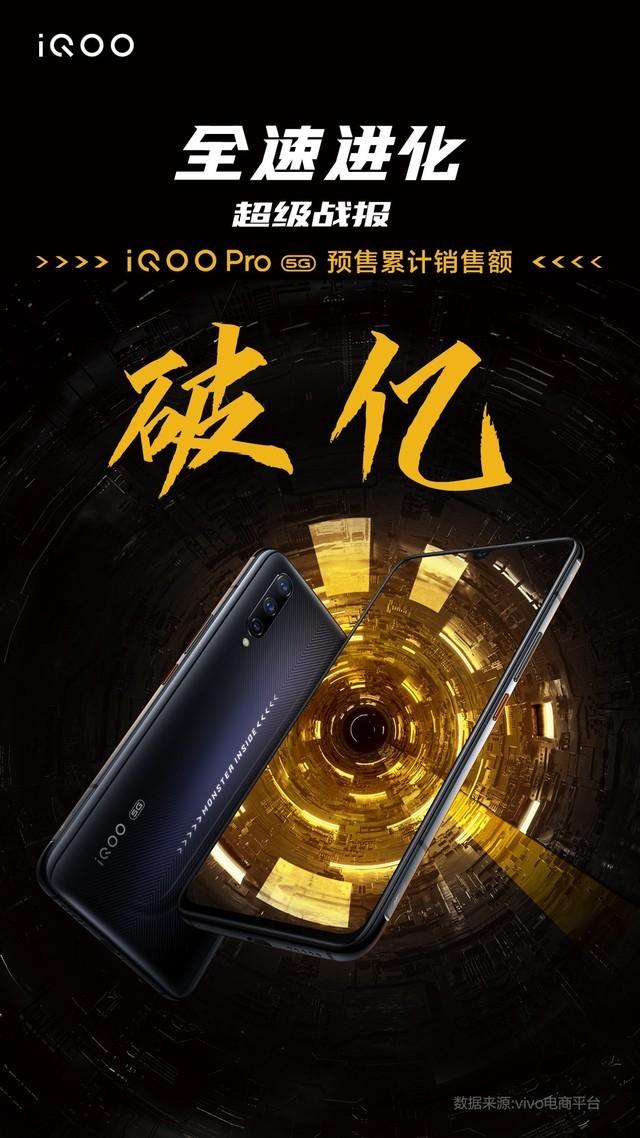 iQOO Pro 5G未正式开售 预售额已经破亿