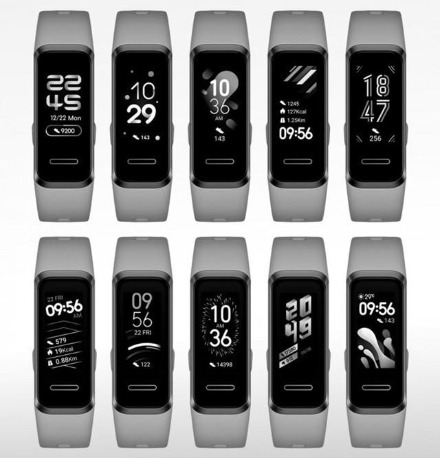 华为11种Band 4 Pro表盘设计专利曝光
